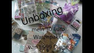 #Unboxing / mein 30 Euro Warenpaket von 9999 Dinge