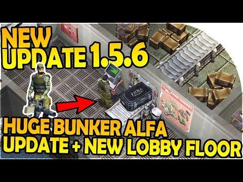 NEW ALPHA UPDATE -HUGE BUNKER ALFA UPDATE, NEW LOBBY FLOOR - Last Day On Earth Survival 1.5.6 Update