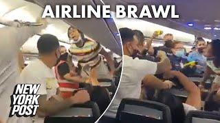Wild video captures moment brawl erupts on Spirit flight to Puerto Rico | New York Post