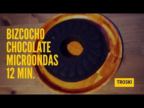 BIZCOCHO DE CHOCOLATE 12 minutos al microondas