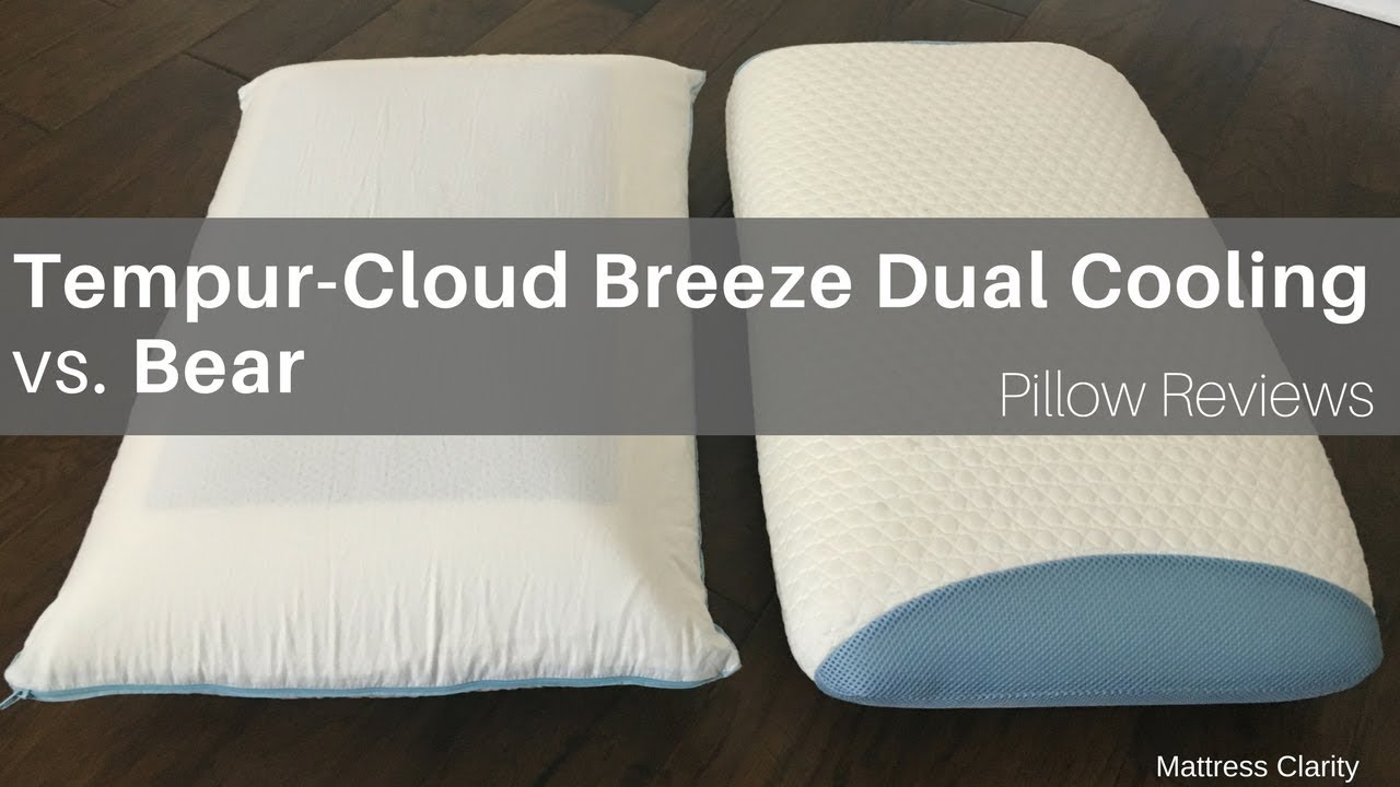 Pillow Reviews Tempur Cloud Vs Bear Youtube