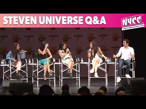 Steven Universe Q&A with Steven, Connie, Pearl, Amethyst and Peridot at Florida Supercon 2016