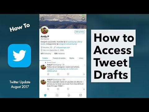 How To Use Twitter Drafts