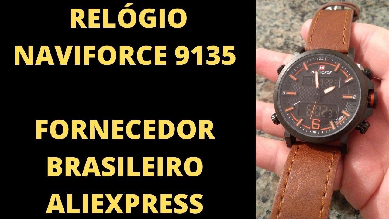 Unboxing Relogio Naviforce - fornecedor brasileiro do Aliexpress
