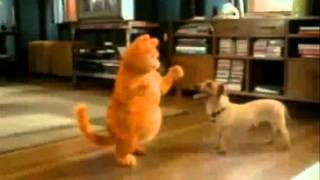 garfield bailando cancion camaleon