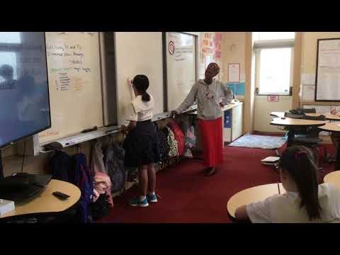 Nthabiseng co-teaching at The Hamlin School, San Francisco