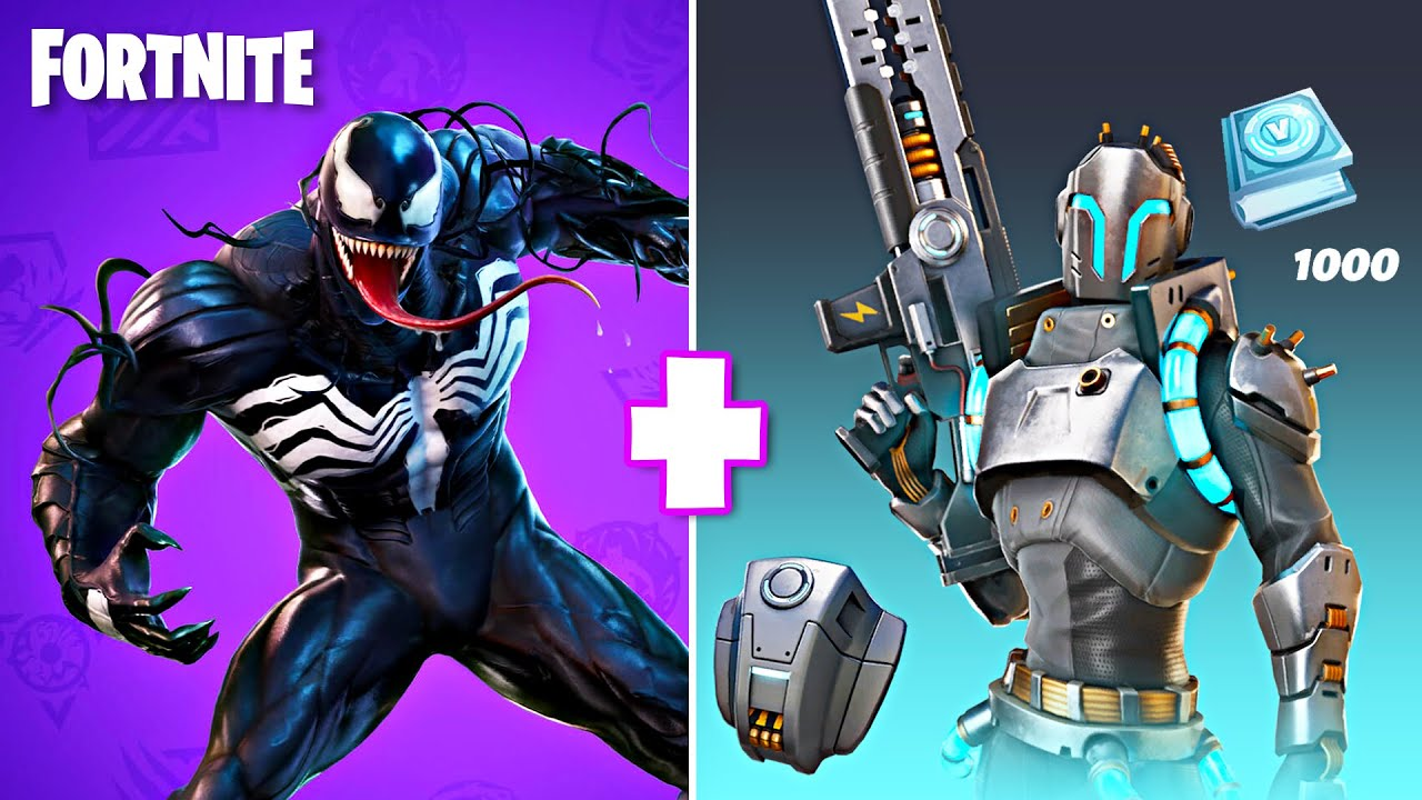 Playing as VENOM and POWERHOUSE Pack! (Fortnite Battle Royale)