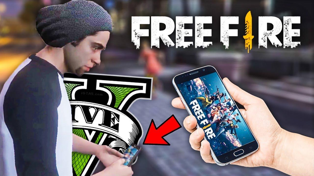Free Fire En Gta V Youtube