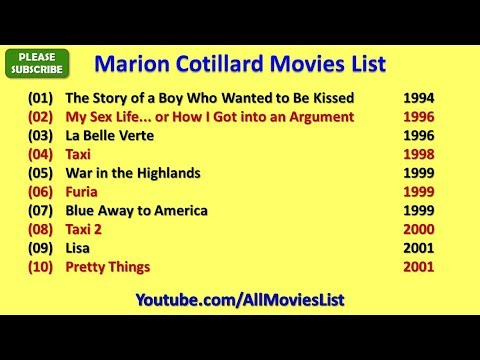 Marion Cotillard Movies List Youtube