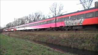 ddm 1 weer in dienst treinen door delft 10 januari 2011