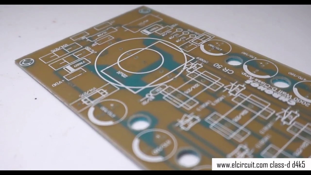 Power Amplifier Class D D4k5 Schematic Pcb Design Youtube Circuit