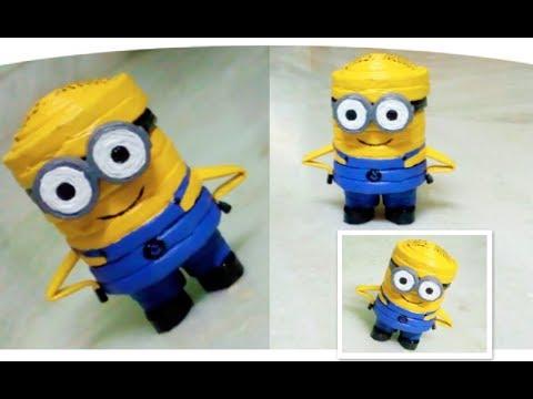 DIY Newspaper Minion || How to make newspaper minion || despicable me minion craft || DIY CraftsLane