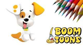 How to DRAW BUBBLE PUPPY from BUBBLE GUPPIES - Fun Sketch - BOOM TOONS!