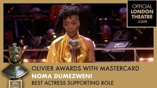 Noma Dumezweni accepts the Best Supporting Actress in a Play Award