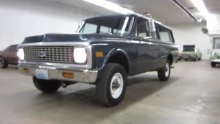 ** SUPER SOLID !! ** 1972 3/4 TON CHEVY SUBURBAN 4X4 ** SOLD !!