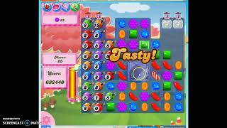 Candy Crush Level 374 Audio Talkthrough, 3 Stars 0 Boosters