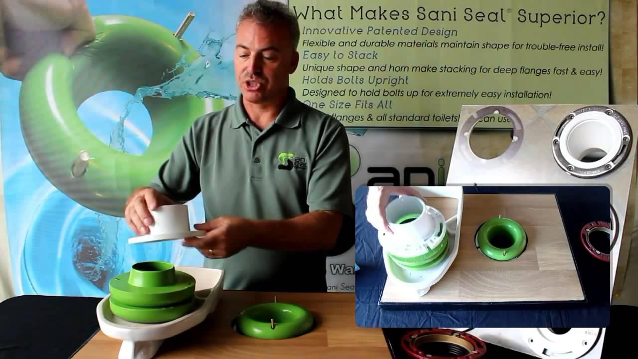 Sani Seal Toilet Gasket Flexible Waxless Universal Fit Wax Free
