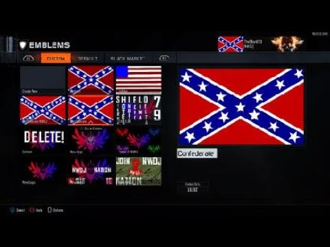 How To Make The Confederate (Rebel) Flag Emblem (Bo3)