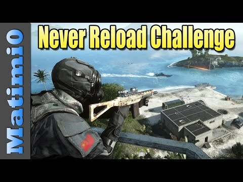 Battlefield 4: Never Reload Weapon Challenge - Matimi0  - ZopBtUgAL0Y -