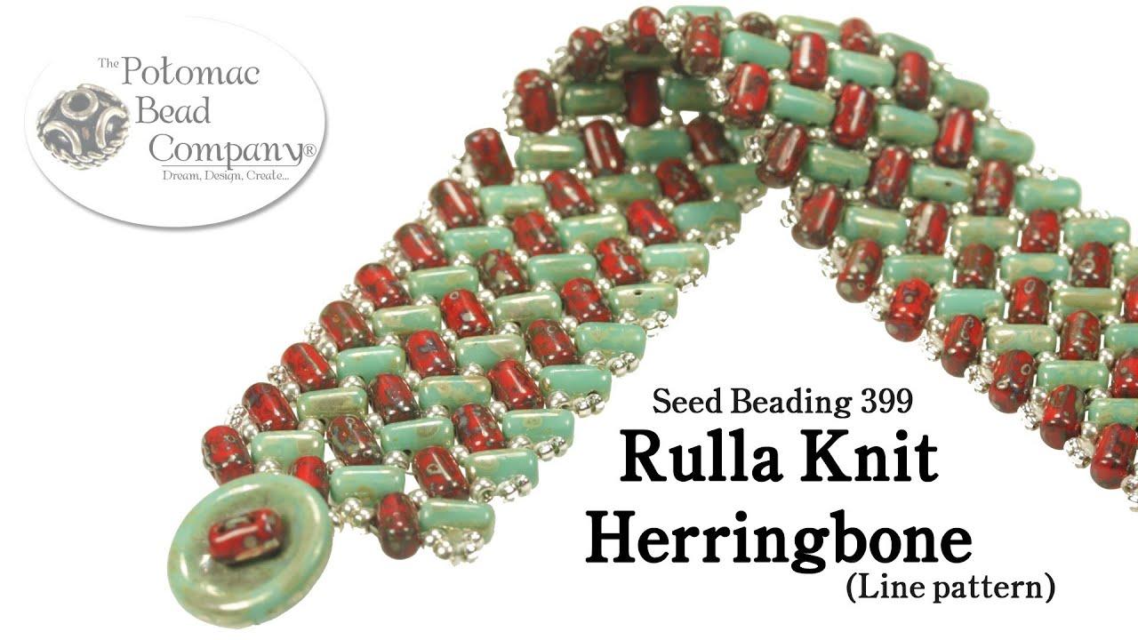 Make a rulla knit herringbone bracelet line pattern youtube bankloansurffo Gallery