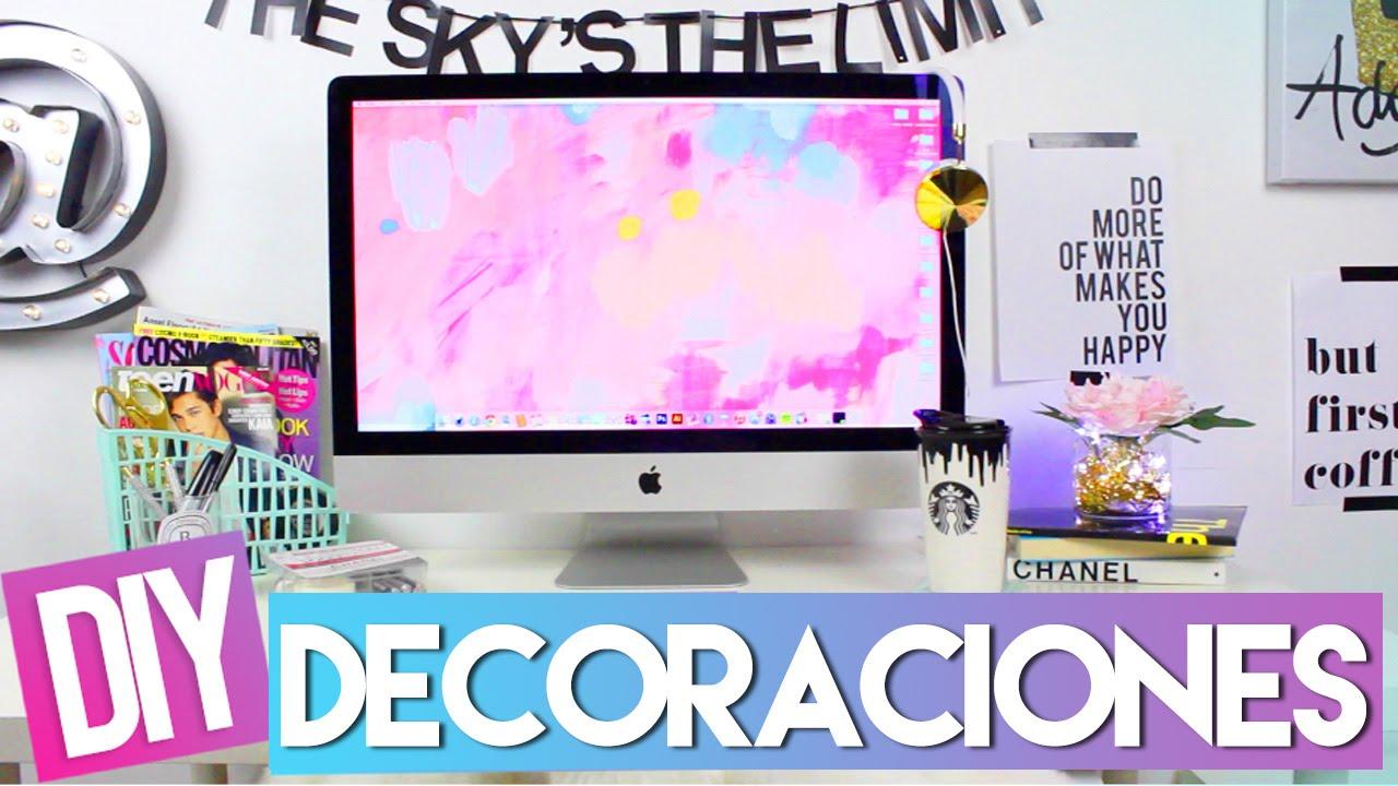 Que hay en mi escritorio diy decoraciones youtube for Ideas para decorar escritorio