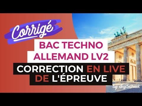 Bac 2017 - Correction en LIVE de l'épreuve d'ALLEMAND LV2 (Séries Techno)