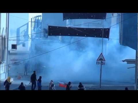البحرين   مواجهات ساحة الشهيد في بلدة الدير , 26 1 2012