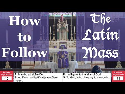 How to Follow the Latin Mass - Low Mass