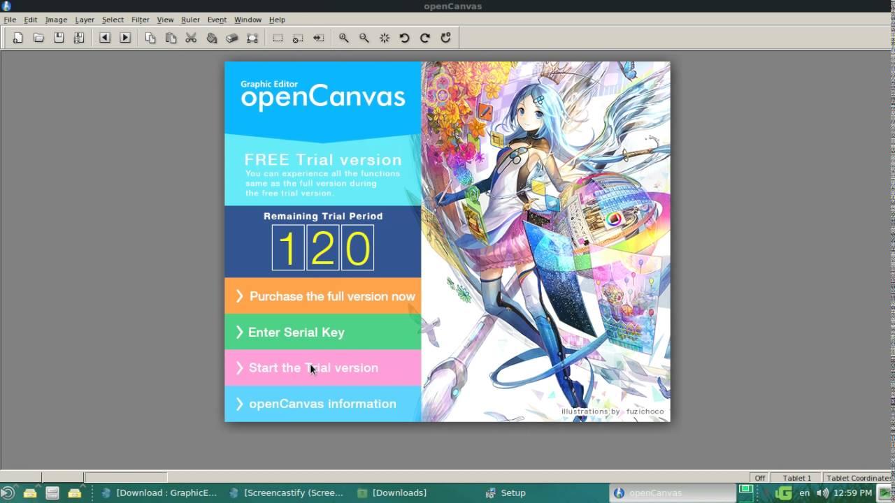 Getting OpenCanvas 6 2 02 on Debian Mate 8 6 Wine Passed! :)