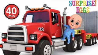Car Loader Trucks | Cars toys videos, police chase, fire truck - Surprise eggs - Jugnu Kids