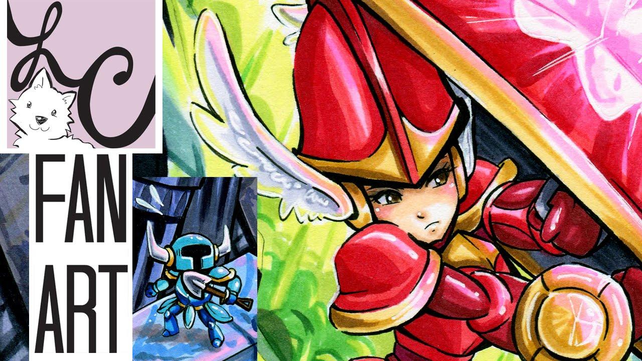 Shovel Knight Shield Knight Fan Art Copic Marker Speed Paint