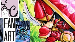 Shovel Knight & Shield Knight Fan Art (Copic Marker Speed Paint Coloring)
