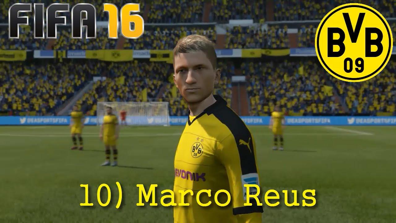 FIFA 16 - Borussia Dortmund Faces (Reus, Hummels, Schmelzer) - YouTube