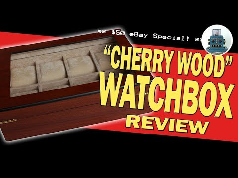 Cheap cherry wood Watchbox - FULL REVIEW - I Review Crap!