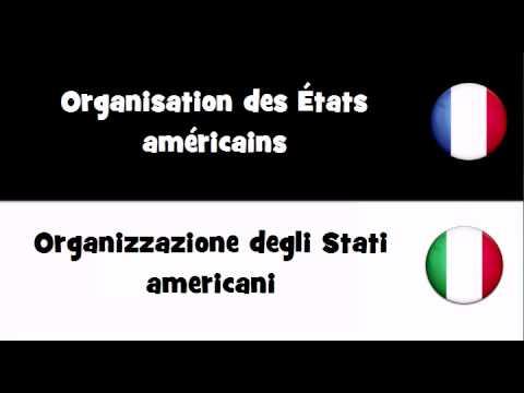 VOCABULAIRE EN 20 LANGUES = Organisation des États américains