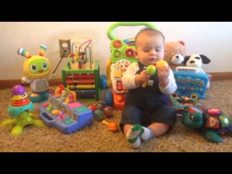 Toys For A 9 Month Old : Joshua s month old christmas gifts youtube
