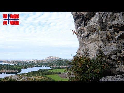 Climbing in Flatanger