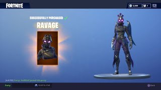 "GAMEPLAY DE ""RAVAGE"" DE LA PEAU FORTNITE - NEW AXE IRONBREAK"