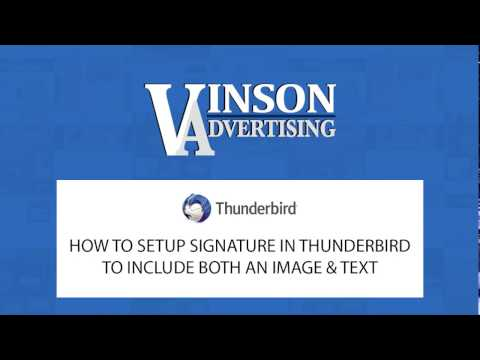 Thunderbird Email Signature | How to Add Both Image & Text