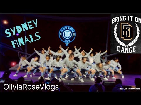 Bring It On Sydney Finals Vlog :) I Performed On Stage? :O OliviaRoseVlogs