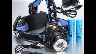 фонарь налобный(Налобный светодиодный фонарь Cree XM-L T6 2000 lm. Очень яркий луч. ссылка http://ali.pub/89fvb., 2015-04-25T08:46:07.000Z)