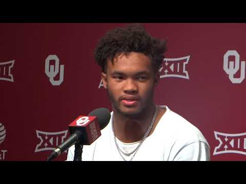 OU QB Kyler Murray talks about making his first start for Sooners