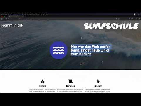 Die Surfschule mit Elementor nachgebaut - WordPress-Page-Builder im Test