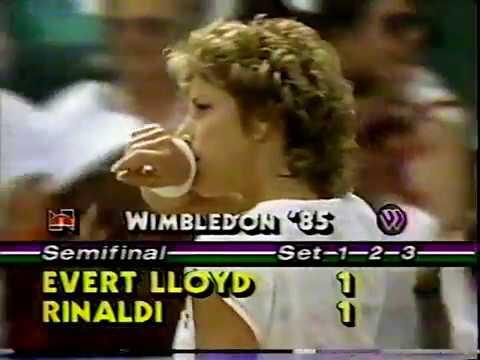 Chris Evert vs Kathy Rinaldi - 1985 Wimbledon SF (1/2)