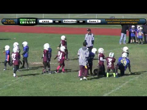 Chatham Kent Cougars Football: Peewee Day Of Champs - Nov 1, 2015