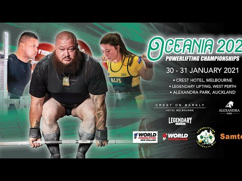 World Powerlifting 2020 Oceania Championships New Zealand Session 1