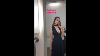 Britain's Next Top Model's Victoria Clay ditches bra in dress with never-ending neckline