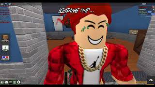 Playing Roblox Murder Mystery 2 with my friend