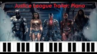 """Justice League Trailer #1  Music """"Come Together"""" Piano Cover"""