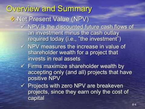 Topic 5 Capital Project Evaluation
